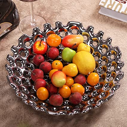 Amazon Com Ceramics Simple Modern Fruit Tray Basket Candy Dried