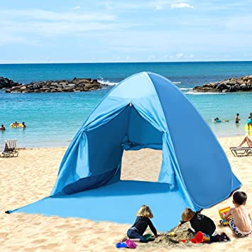 Kany Portable Outdoor Automatic Pop Up Instant Quick Cabana Beach Tent Sun Shelter Canopy Sun Shade & Amazon.com: Kany Portable Outdoor Automatic Pop Up Instant Quick ...