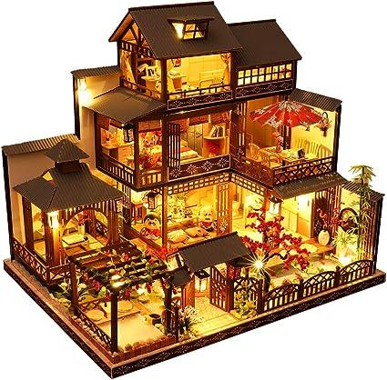 Afternoon Tea TIME DIY Dollhouse Kit Plus Dust Proof 1:24 Scale Creative Room Idea CUTEBEE Dollhouse Miniature with Furniture