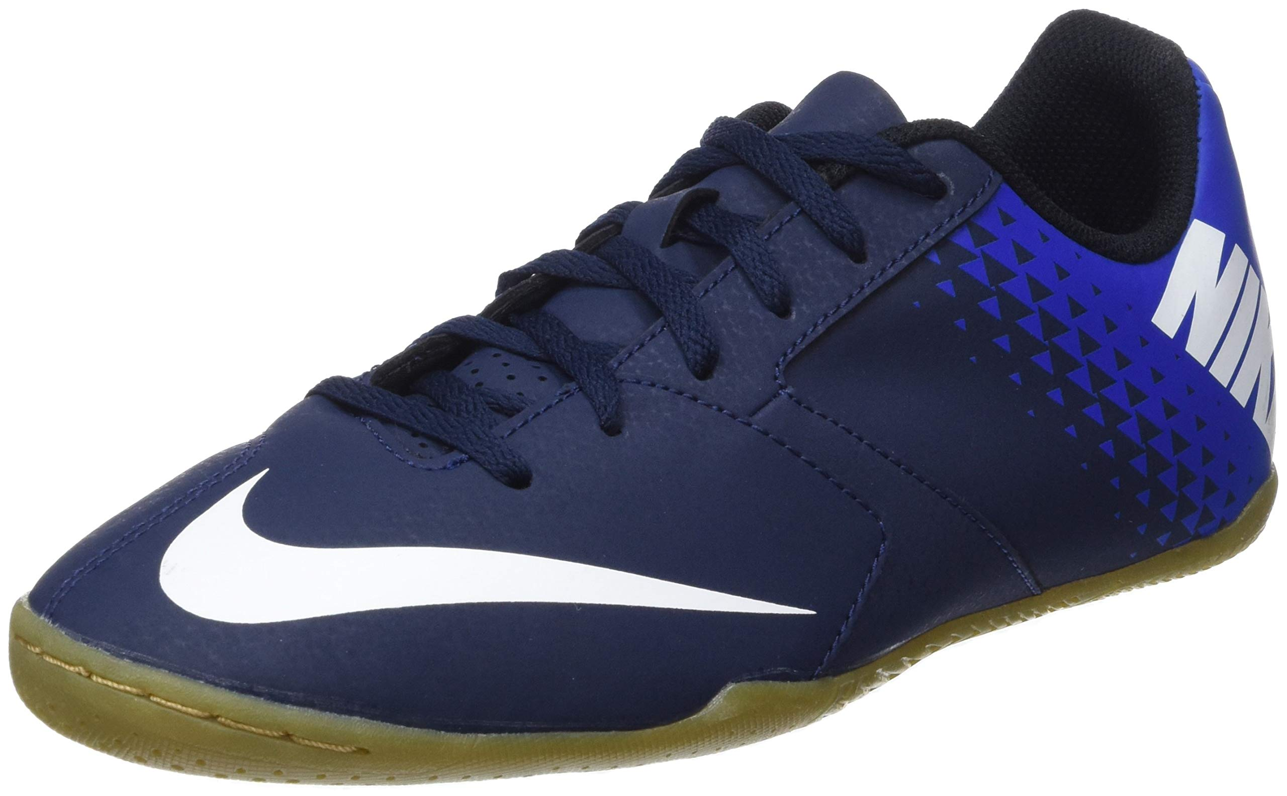 Nike Junior Bombax Indoor Soccer Shoes (Navy Blue/Blue/White) (1) by Nike