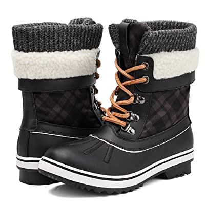 Amazon.com | ALEADER Women's Fashion Waterproof Winter Snow Boots | Snow Boots