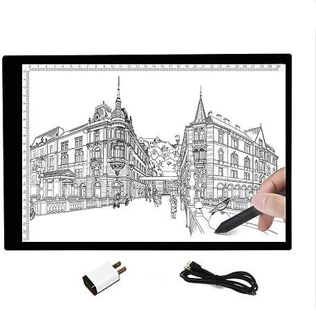 sbfwh Caja de luz para Calcar, tamaño A4, LED, Iluminación Ajustable, Ideal para animacion, Tatoo, dibuja, 31: Amazon.es: Hogar