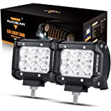 Auxbeam LED Light Bar 4 inch LED Pods 18W CREE LED Driving Light 2Pcs 3W Spot Beam for JEEP, ATV, Truck, Boat