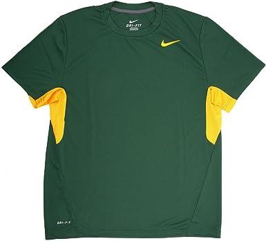 Nike Vapor - Camiseta para hombre, color verde y amarillo