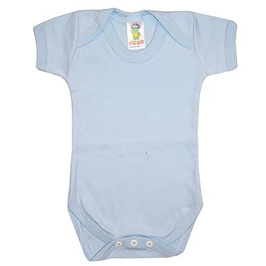 ab314cc6f1de Farstowe Newborn Baby Unisex Short Sleeved Basic Plain White Pink ...