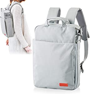 ELECOM Offtoco 3WAY PC Bag Backpack, Messenger Bag, Handbag, Support to 13.3 inch Laptop/Light Gray/BM-OF01LGY