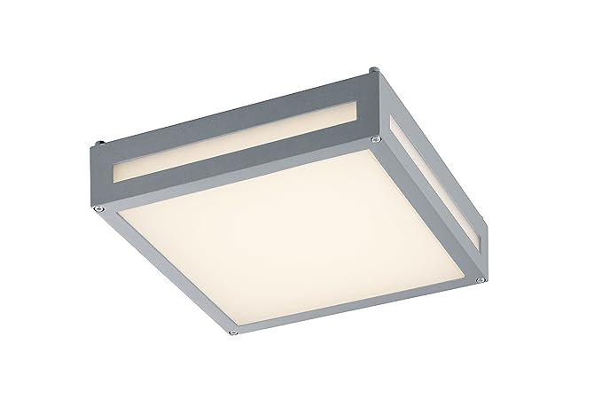 Lampade A Led Da Soffitto Per Esterno : Trio 620060187 lampada da soffitto per esterni led newa in alluminio