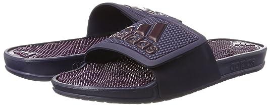 adidas Damen Adissage 2.0 Logo Badeschuhe, Blau (Noble Ink/Dark Rust Metallic/Red Night), 42 EU