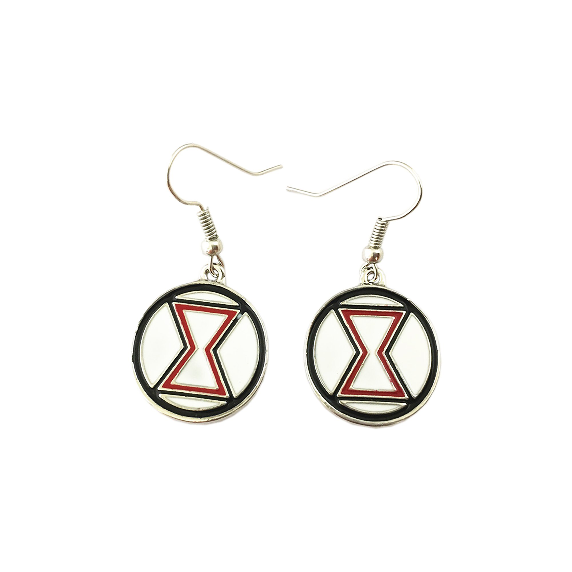 Outlander Marvel Black Widow Color Logo Earring Dangles In Gift Box From