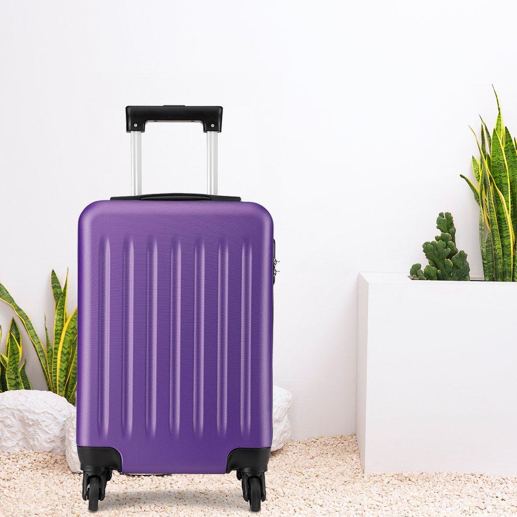 Kono Bagage /à Main l/éger en ABS Valise Rigide pour Valise de Voyage /à 4 Roues,Valise de Voyage pour Easyjet British Airways Ryanair Gris