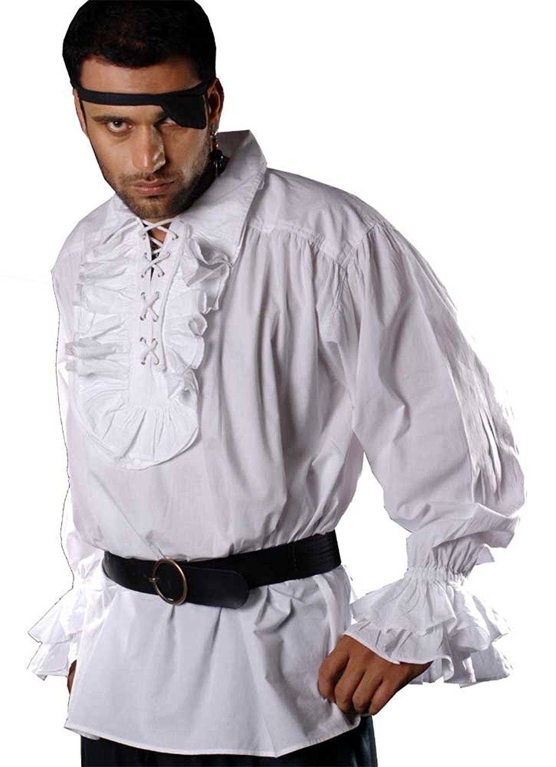 Medieval Poet's Pirate Shirt Costume [White] (Large) by ThePirateDressing (Image #1)
