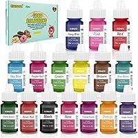 Colorante Alimentario - 16 colores 0.25 oz / 6 ml Colorante Alimentario Alta Concentración Liquid Set para Colorear los…
