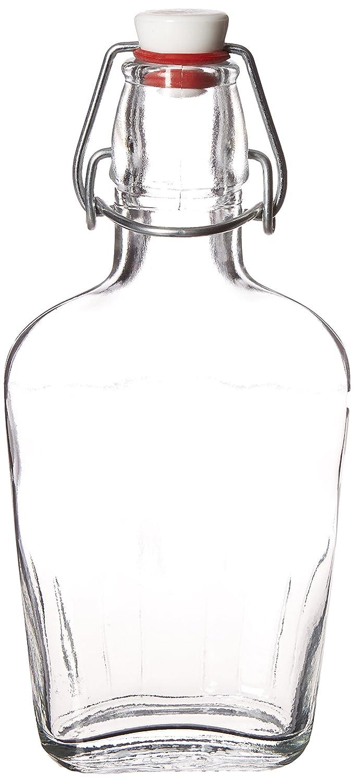 Bormioli Rocco Pocket Flask, 8.5 oz, Clear 388540MCD121990