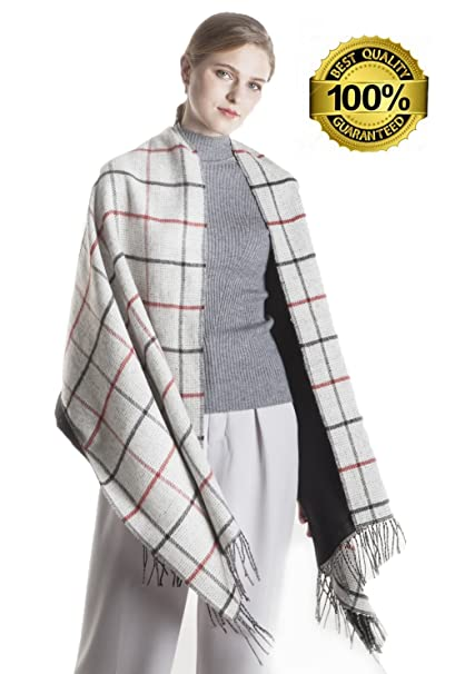 b5de1df321c9a KAISIN Winter Scarf Warm Lattice Scarf Women's Fashion Long Shawl Blanket  Wrap