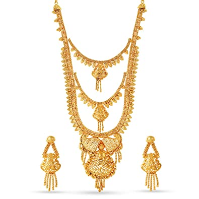 756284970ad Buy Variation Jewellery Set for Women (Golden) (VD18104) Online at Low  Prices in India