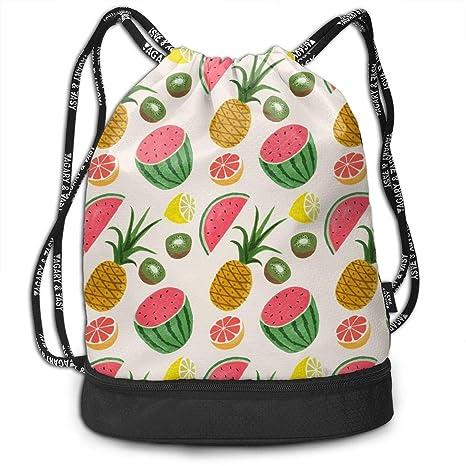c2e450cd9f20 Amazon.com: All agree Drawstring Bag Pineapple Kiwi Watermelon Lemon ...