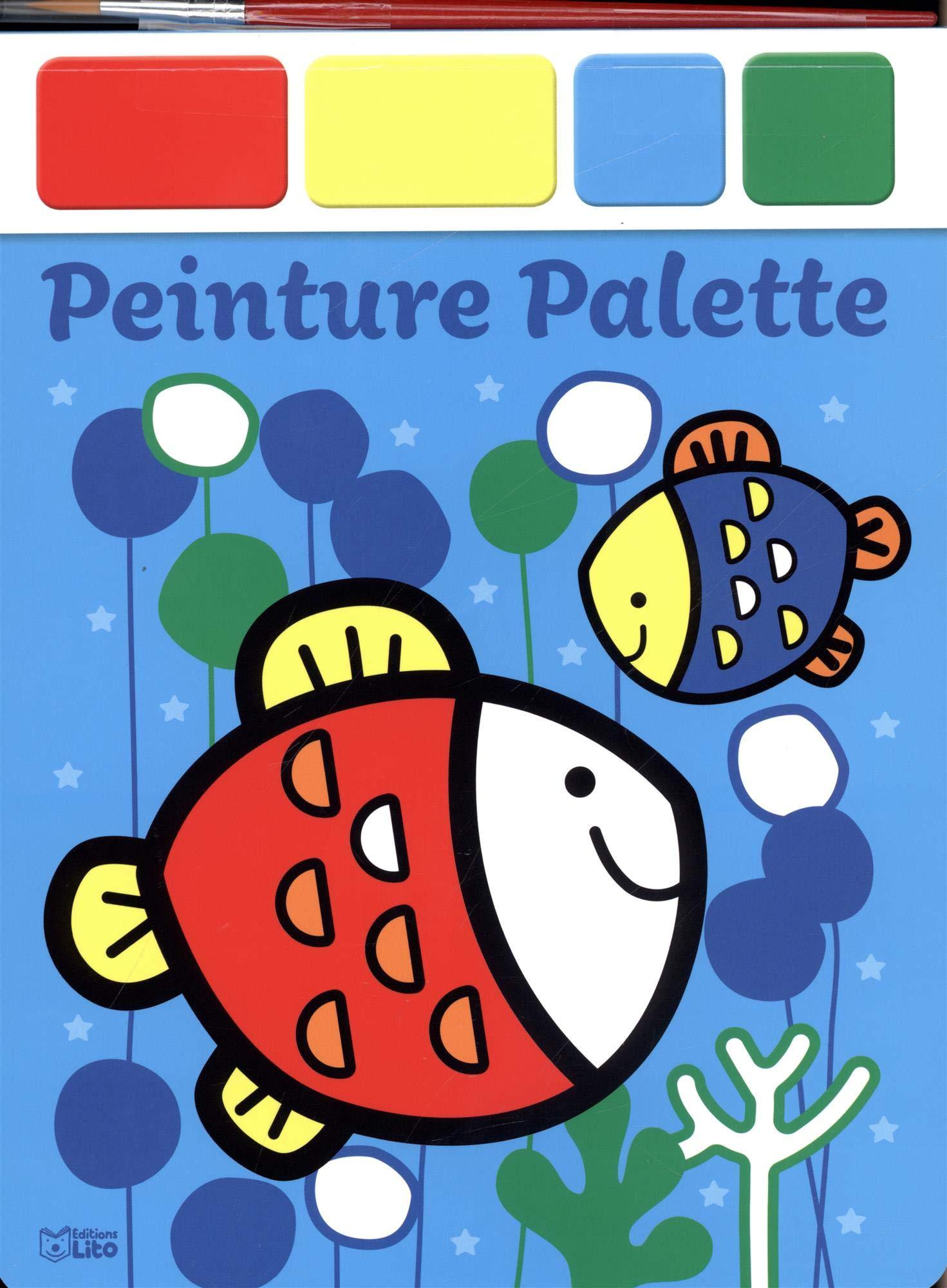 Amazoncom Peinture Palette Les Poissons 9782244108278