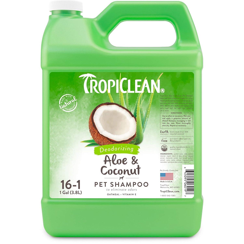 (Gallon) TropiClean Aloe and Coconut Pet Shampoo