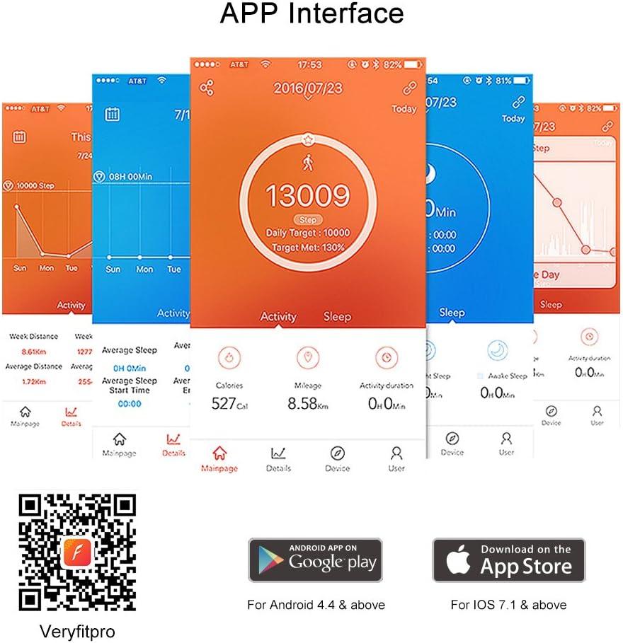 Pulsera de actividad inteligente SZPLUS con monitor de ritmo ...