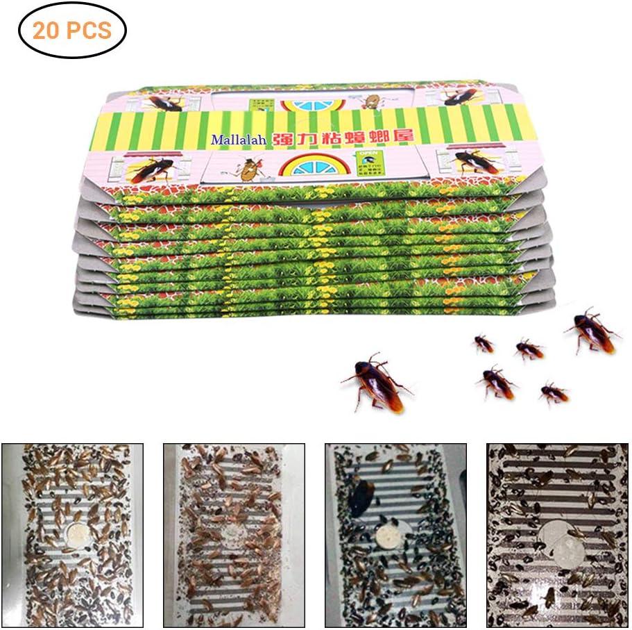 Mallalah 10//20PCS Trappes Cafard Cockroach Pi/ège R/épulsif Tueur Forte Collant Parasites Domestiques Repeller /Écologique Non Toxique sans App/ât 10PCS