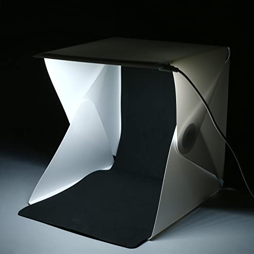 Artpixel Portable Mini Photo Studio for Quality Photography Built-in LED Light Lighting Box with Black and White Backdrops 16 X 16in