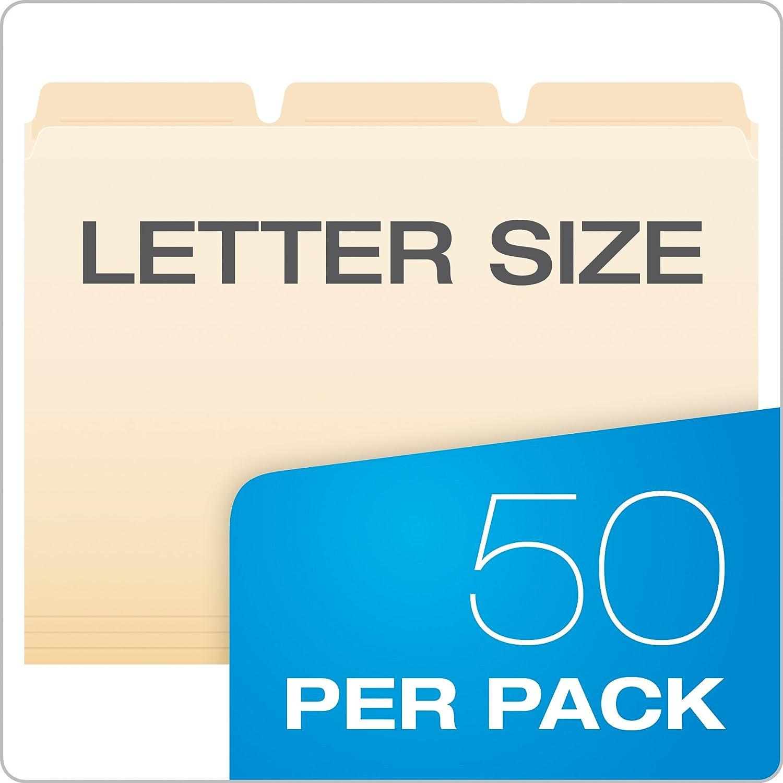 taglio 1//3 Manila 50//BX Raccoglitore rinforzato formato lettera Pendaflex 42336 Ready-Tab