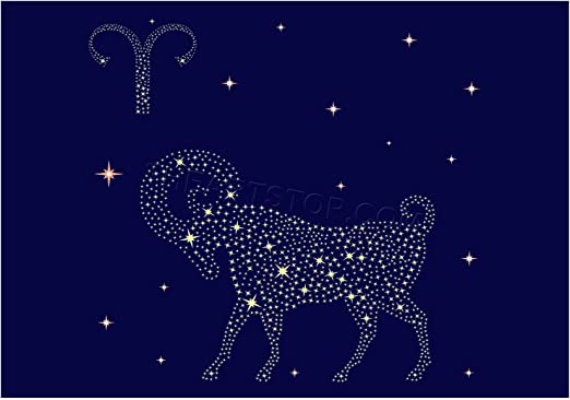 Amazon.com: The Art Stop Painting Illustration Zodiac Star Sign Aries RAM  Print F12X4803: Posters & Prints