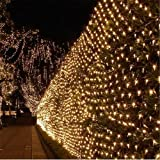 StillCool® 4.2m x 1.6m 300 LED String Curtain Light String Icicle Icy Rain for Indoor Christmas /Wedding/Party Decorations [Energy Class A] (S-327 Warm White)