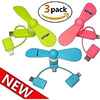Climatiseur Mobile Ventilateur USB Portable Refroidisseur D'air Personnel Puissant pour Bureau Voiture Chambre Couche (blanc)