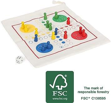 Small Foot 12022 Ludo - Juego de Mesa de Viaje (Madera): Amazon.es: Juguetes y juegos