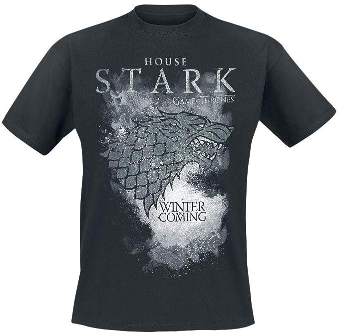 Game Of Thrones Juego de Tronos House Stark - Winter Is Coming Camiseta Negro: Amazon.es: Ropa y accesorios