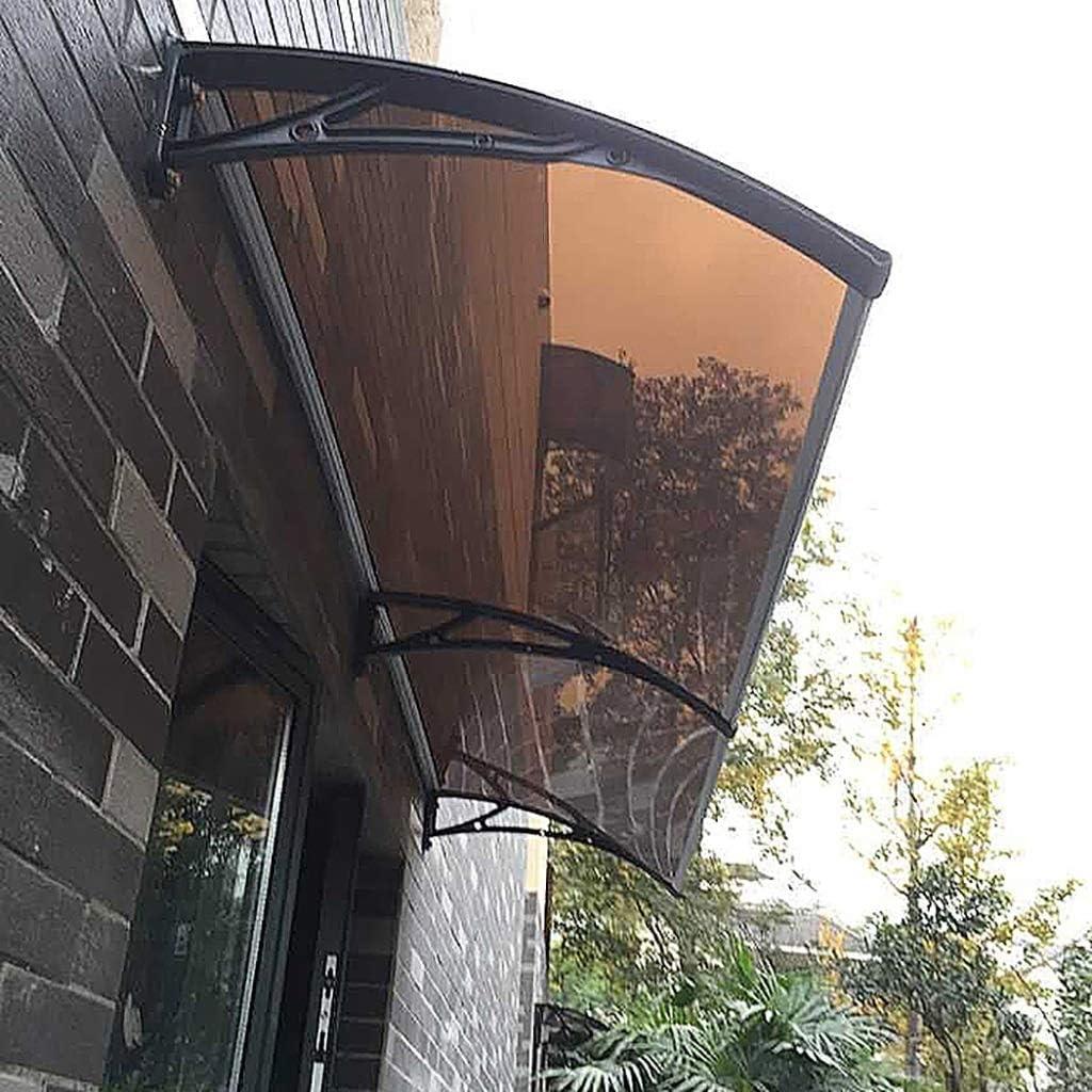 FKDENET Múltiple Tamaño al Aire Libre de Interior for Ventanas Toldo contra los Rayos UV Ultraligero Bricolaje Sun Refugio con Techo de Lona Sunshelter-Brown (Size : 150×100×19cm)