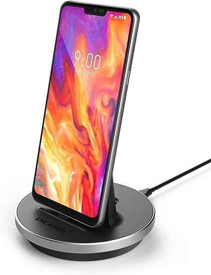 V20, V30, G7 G8 Case Compatible Adjustable Charging Stand by Encased USB Type C Desktop Charger for LG Phone Models