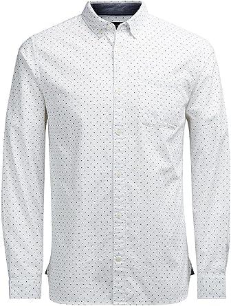 Camisa Jack and Jones David Blanca XXL Blanco: Amazon.es: Ropa y accesorios