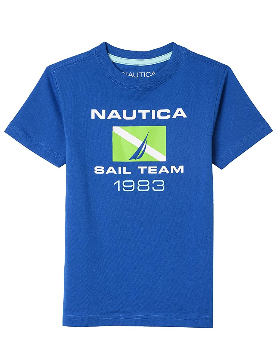 Nautica Boys Big Short Sleeve Sailing Graphic T-Shirt