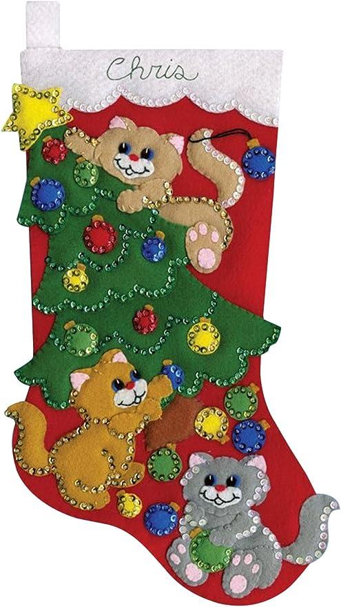 Felt Applique Christmas Stocking Kit In 4 Designs