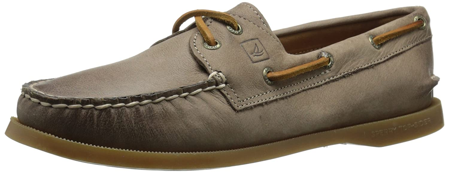 Sperry Top-Sider Women's A/O 2-Eye Weathered and Worn Boat Shoe, Greige, 10 M US