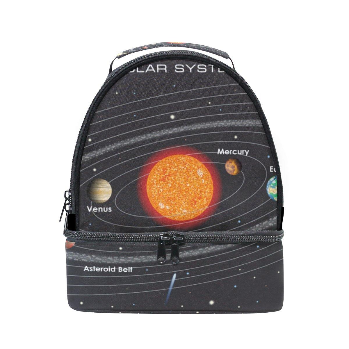 Cooper girl Fantasy Solar System Lunch Bag Cooler Tote Bag Large Capacity for Women Men Adult Kids Boys Girls