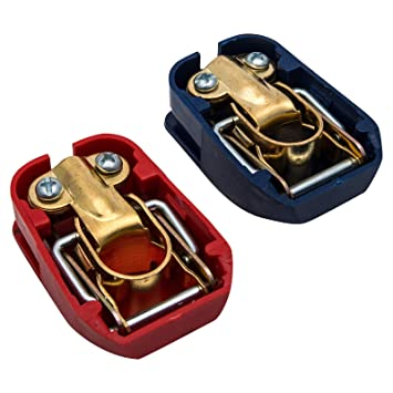 2pcs Car Boat RV Heavy Duty Quick Release Battery Terminal Clip Connector Clamps