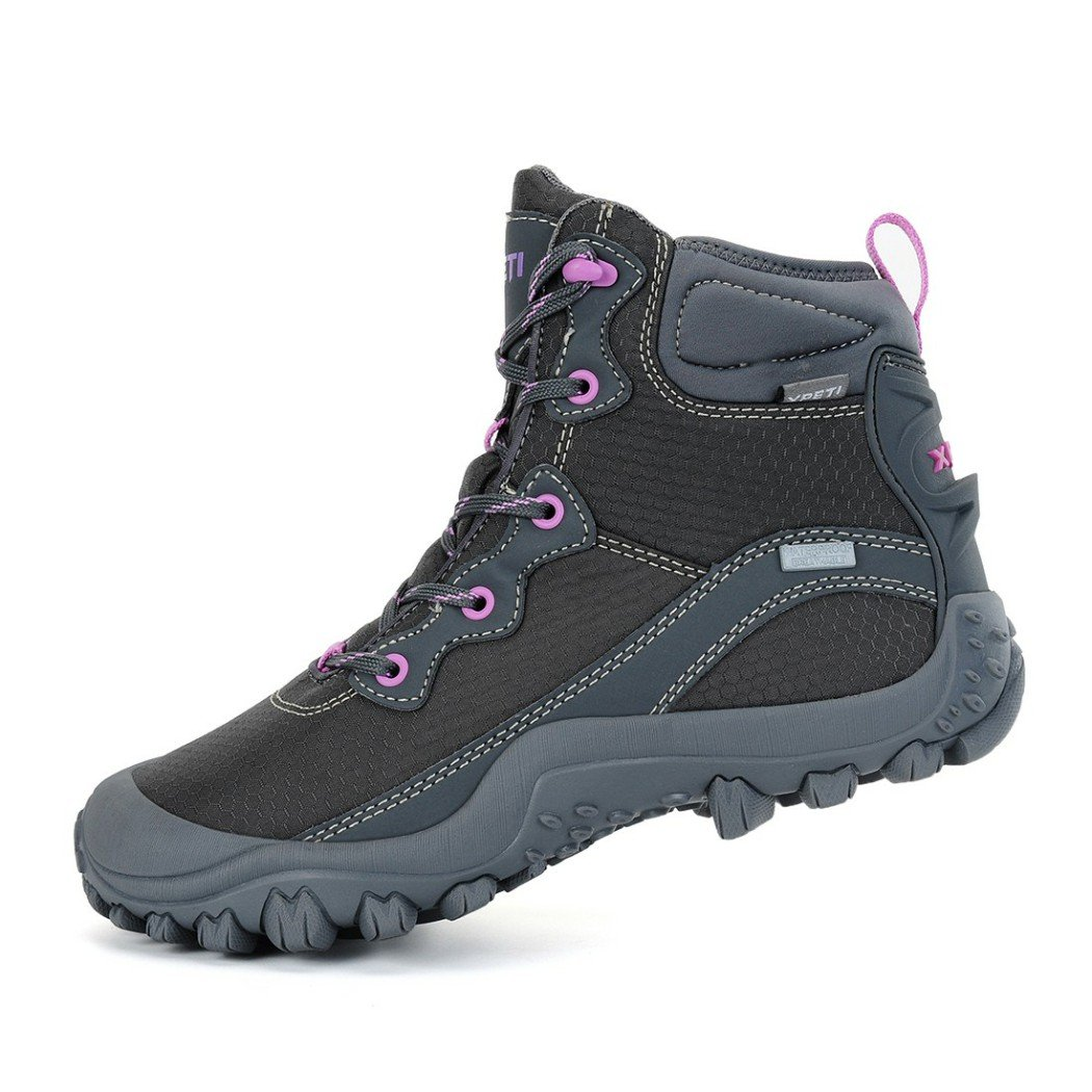 XPETI Women's Mid Waterproof Hiking Outdoor Boot (6 B(M) US, Gray) by XPETI (Image #3)