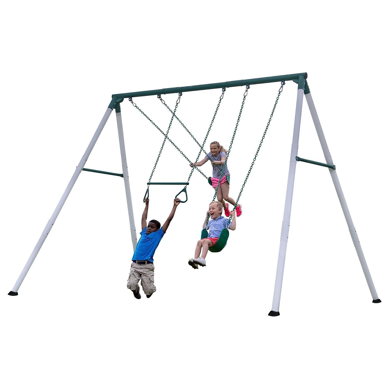 Backyard Discovery heavy duty metal swing set