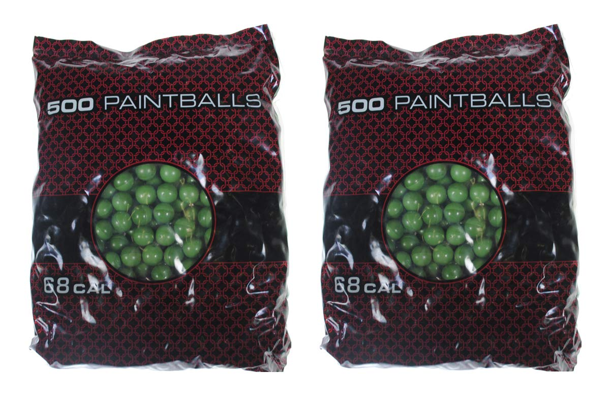 GI Sportz XBALL Certified Midnight Paintballs - Green/Light Green Shell (1000 Count - Orange Fill) by GI Sportz