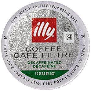 illy K-Cup Pods Decaffeinated Classico Medium Roast Coffee for Keurig Brewers, 10 Ct