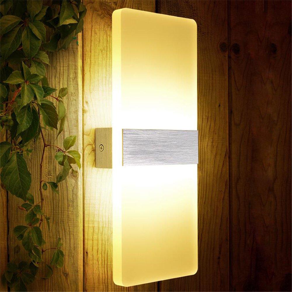 SAILUN/® 6W Warmwei/ß Spiegelleuchte Badlampe Wandleuchte Badleuchte Rechteck Wei/ß Aluminium Wasserdicht Stilvolles Elegante 290mm 110mm 6W Rechteck Warmwei/ß