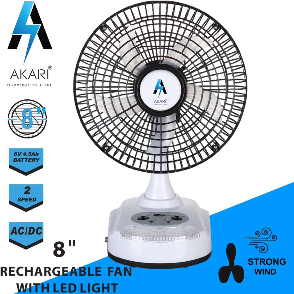 Buy Akari 8 Small Ultra Quiet Rechargeable Desktop Fan Table Fan