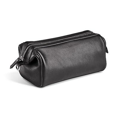 Amazon.com  MORAL CODE Leather Dopp Kit Lucas Black Leather One Size  Shoes 60e69cd2f7de2