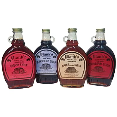 Amish Syrup flavored (Maple, Cherry, Strawberry, Blackberry) : Dessert Topping Syrups : Grocery & Gourmet Food