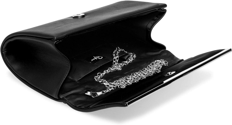 Caspar TA415 elegante Damen Envelope Clutch Tasche Abendtasche