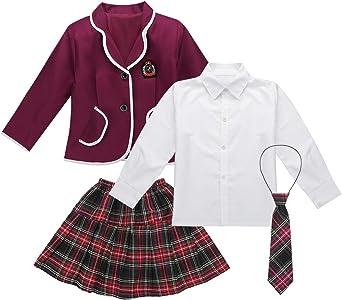 iiniim Conjunto de Uniforme Escolar Japones para Niña Chaqueta ...