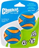 Chuckit! Ultra Squeaker Ball Small - 2 Pack, Blue & Orange